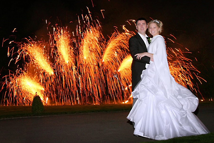 Wedding Fireworks Display