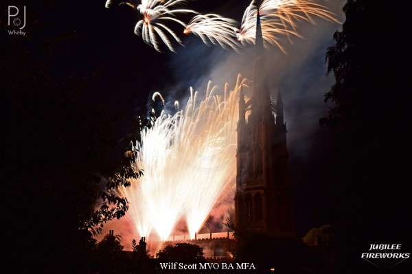 Jubilee Fireworks Wilf Scott St James Church Spire 500th Anniversary 4