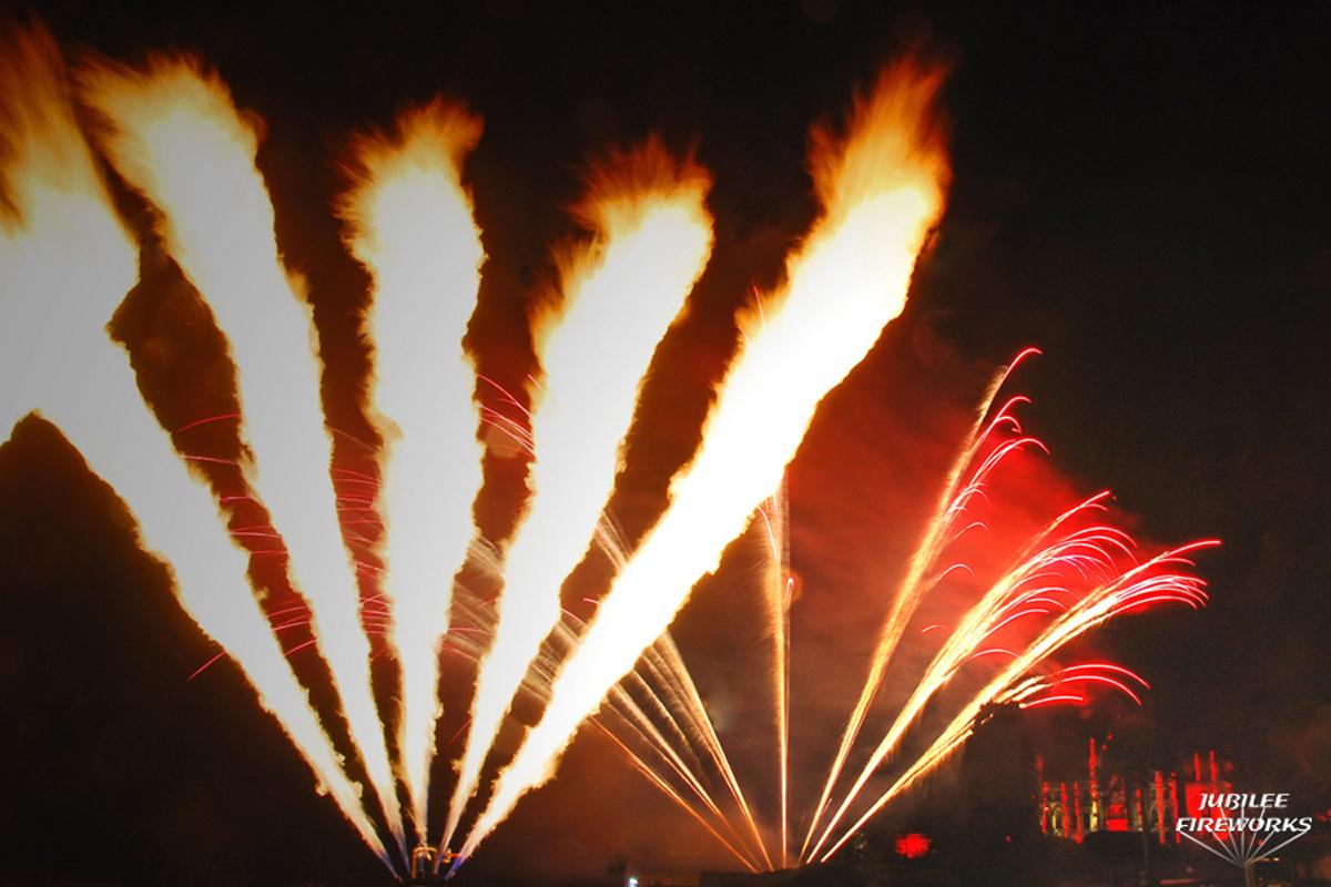 Alton Towers Fireworks Flames Castle