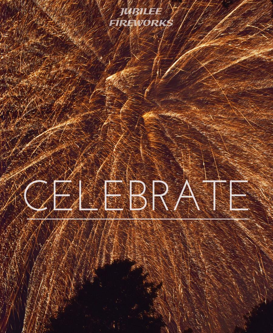 Gold Brocade Fireworks Fill Sky