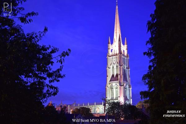 Jubilee Fireworks Wilf Scott St James Church Spire 500th Anniversary 1