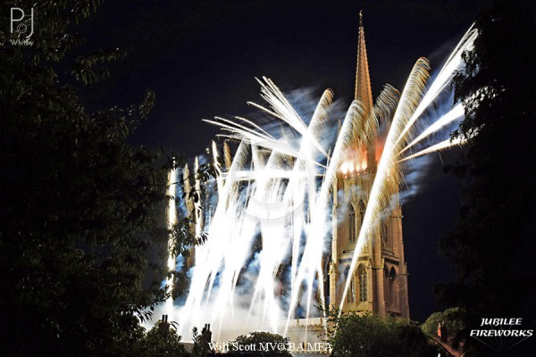 Jubilee Fireworks Wilf Scott St James Church Spire 500th Anniversary 2