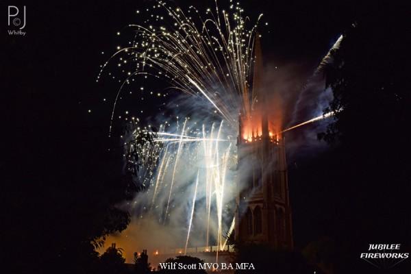 Jubilee Fireworks Wilf Scott St James Church Spire 500th Anniversary 3