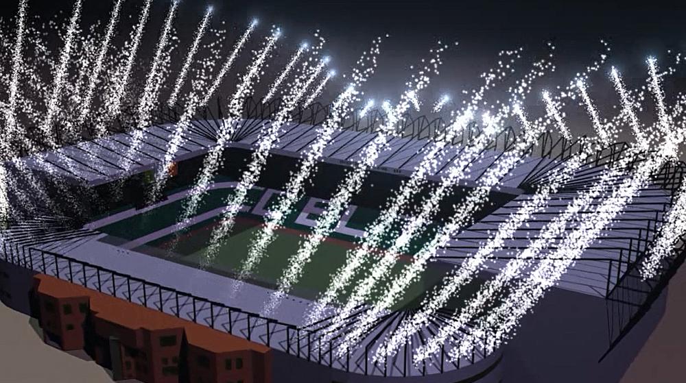 Stadium Fireworks Simulation