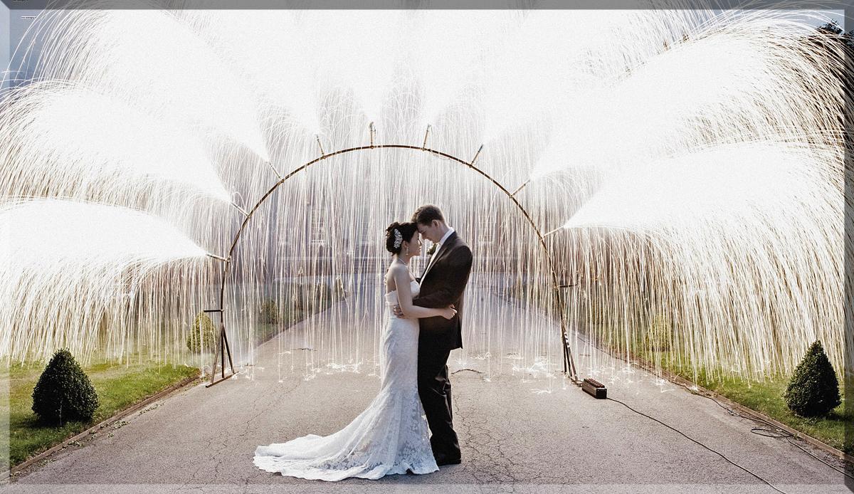 Wedding Fireworks Fountain Archway
