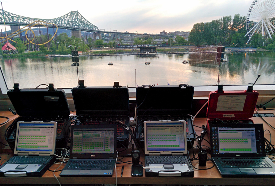 Montreal Pyromusical Competition Control Room